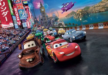 Disney Cars boys room wallpaper murals